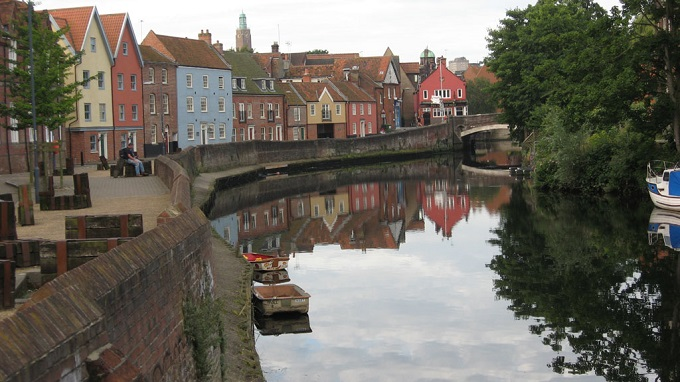 The River Wensum in Norwich, England