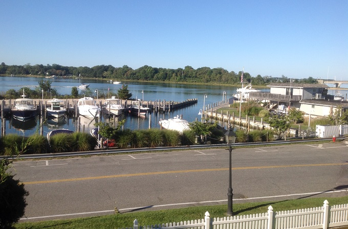 The view from The Sag Harbor Inn